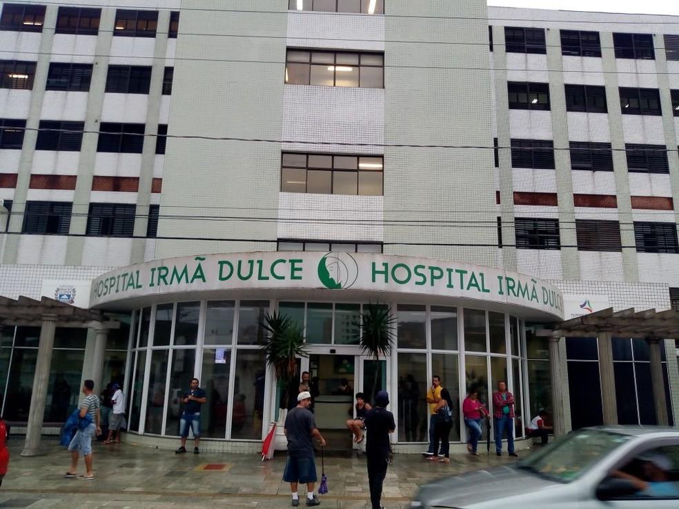 Situação aconteceu no Hospital Irmã Dulce, em Praia Grande, SP — Foto: Itaicy Julio/Arquivo Pessoal