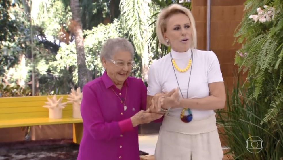 Ana Maria Braga recebe Palmirinha no 'Mais Você' desta sexta (19) — Foto: Reprodução/TVGlobo