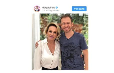 Tiago Leifert escreveu: 'Força total! Tô rezando e torcendo por você, Ana Maria' Reprodução/Instagram