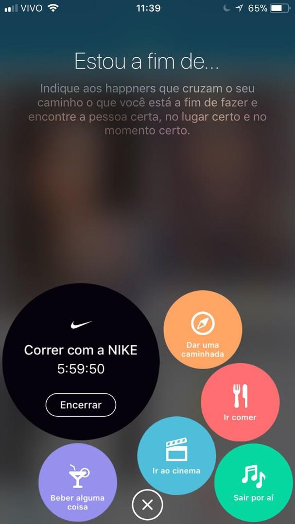 Nike x Happn (Foto: Divulgação)