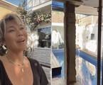 Dani Suzuki mostra piscina da casa, que tem dois andares   Reprodução