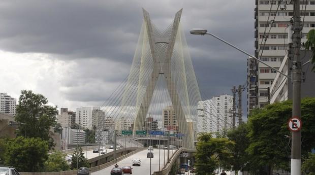 ponte estaiada  (Foto: Cesar Ogata/Secom)