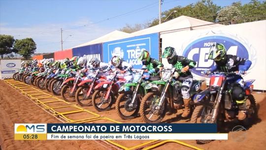 Campeonato de motocross: fim de semana foi de poeira em Três Lagoas