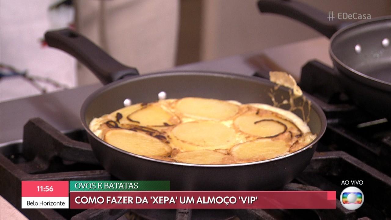 Ana Furtado recebe desafio de fazer fritada com ingredientes da 'xepa'