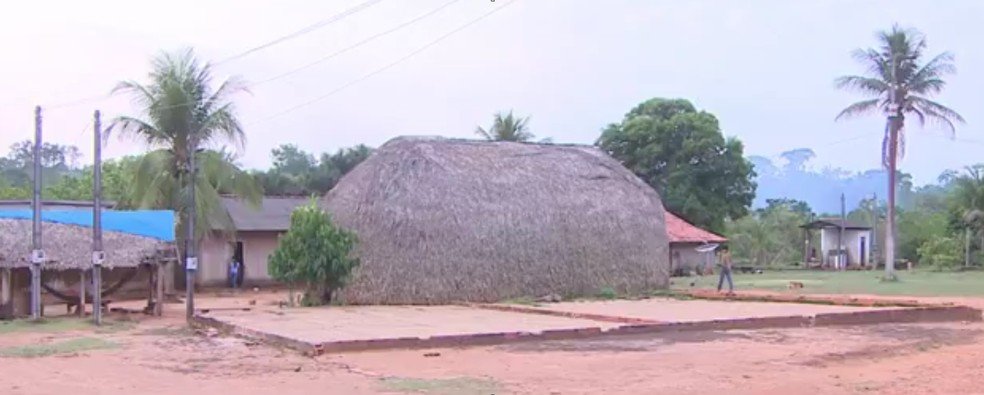 Aldeia indígena em RO — Foto: Reprodução/Rede Amazônica