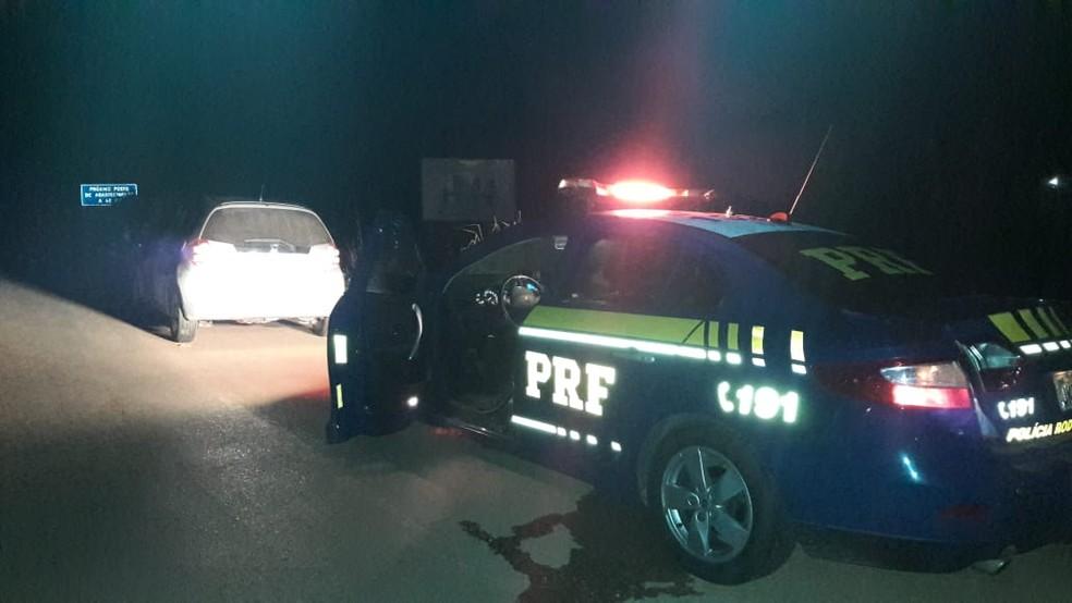 PRF prendeu jovens suspeitos de matar policial aposentado durante roubo em Nossa Senhora do Livramento — Foto: Polícia Rodoviária Federal de Mato Grosso/Divulgação