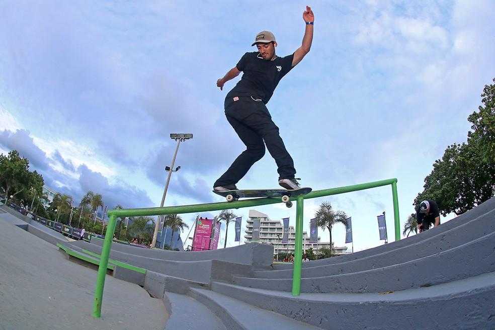 Kelvin Hoefler, do skate street, disputa título mundial na Arena Carioca 1 — Foto: Divulgação