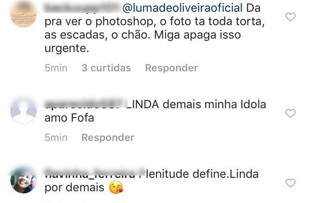 Comentários de seguidores (Foto: Reprodução/Instagram)