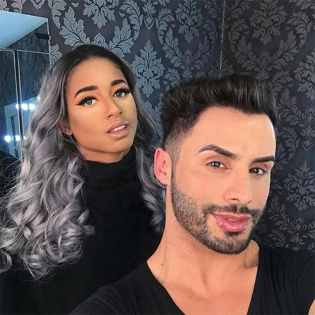 Mc Loma e o maquiador Agustin  (Foto: Reprodução/Instagram)