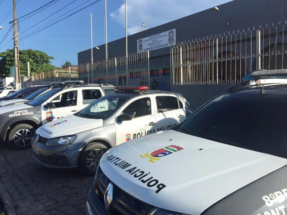 Operação contou a participação de 40 policias do 8º BPM — Foto: MPRN/Divulgação