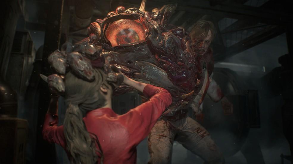 Em Resident Evil 2 jogadores têm que enfrentar poderosas mutações do G-Virus (Foto: Reprodução/DSO Gaming)