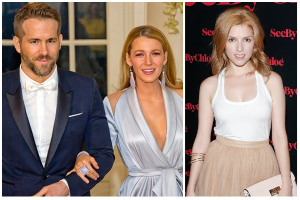 Blake Lively, Ryan Reynolds e Anna Kendrick (Foto: Getty Images)