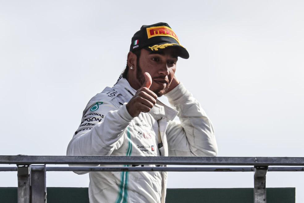 Lewis Hamilton no GP da Itália de 2019 — Foto:  Emmanuele Ciancaglini/Getty Images
