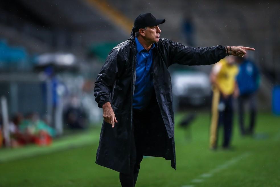 Renato Portaluppi, técnico do Grêmio, na derrota para o Flamengo — Foto: Lucas Uebel/Grêmio FBPA