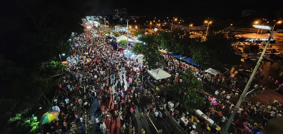 Corso de Teresina foi suspenso — Foto: Dalyne Barbosa/G1