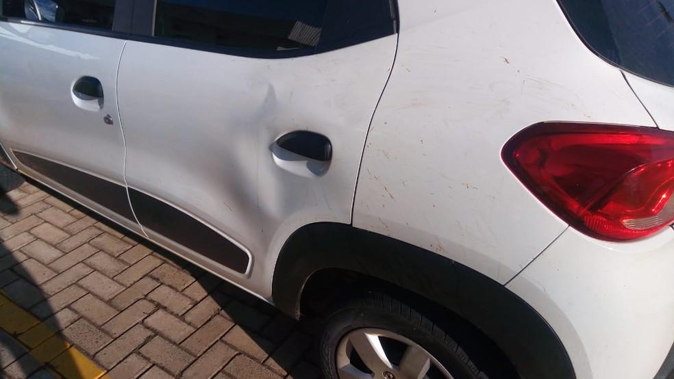 Motorista de aplicativo conta que suspeitos já entraram no carro aparentando estar alcoolizados — Foto: Flávia Galdiole/TV Morena