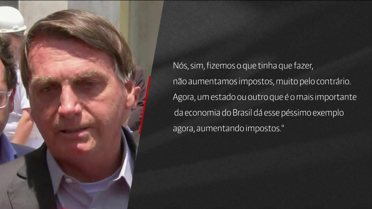 Jair Bolsonaro e João Doria trocam declarações sobre aumento de impostos
