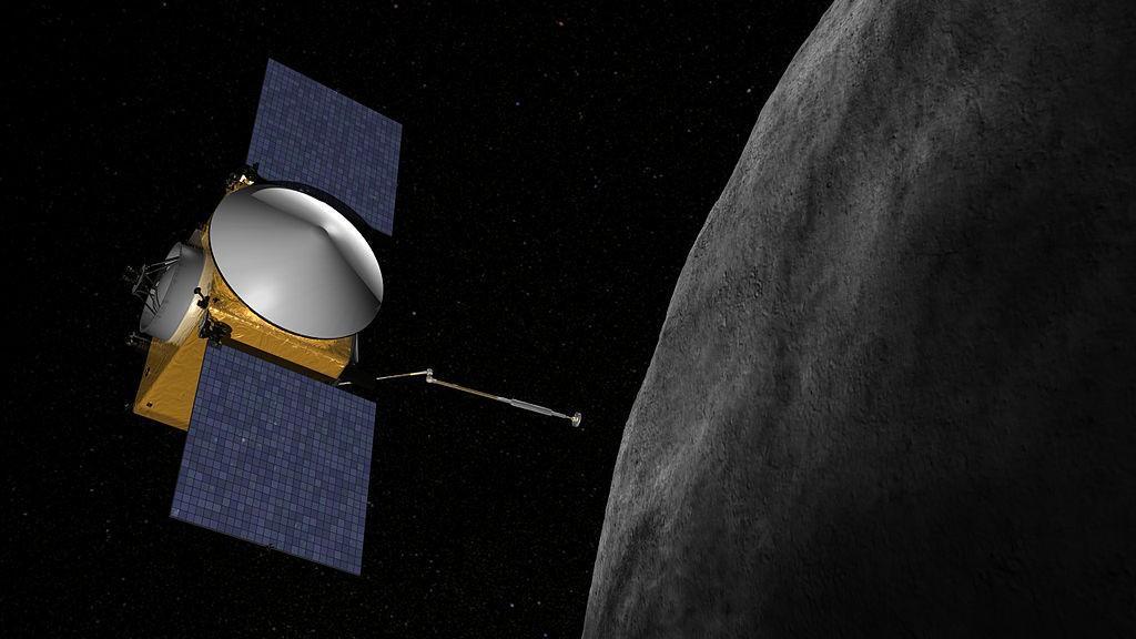 Representação artística da sonda OSIRIS-REx (Foto: NASA/Goddard/University of Arizona/Wikimedia Commons)