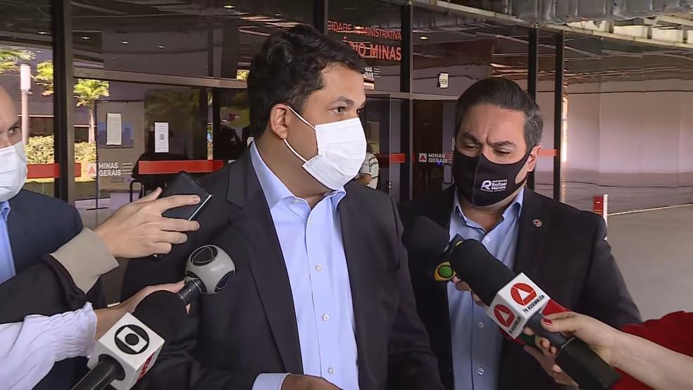 Presidente da CPI, deputado João Vítor Xavier (Cidadania), visitou a Cidade Administrativa — Foto: Reprodução TV Globo