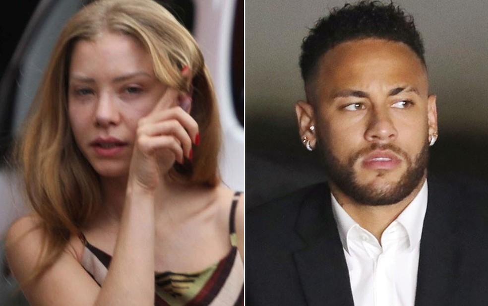 Najila e Neymar — Foto: Renato S. Cerqueira/Futura Press/Estadão Conteúdo; Luisa Gonzalez/Reuters