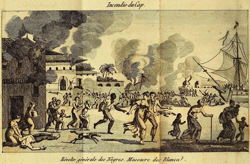 Fazendeiros foram mortos e plantações foram queimadas na revolta — Foto: Getty Images/BBC