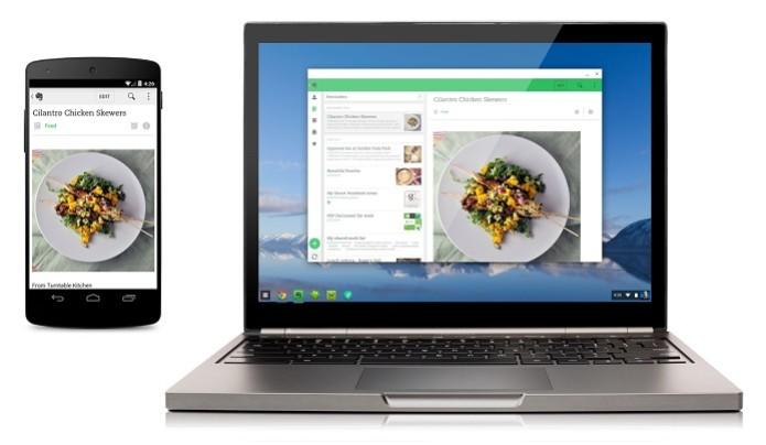 Evernote é um dos primeiros apps de Android que irá funcionar no Chromebook (Foto: Divulgação/Google) (Foto: Evernote é um dos primeiros apps de Android que irá funcionar no Chromebook (Foto: Divulgação/Google))