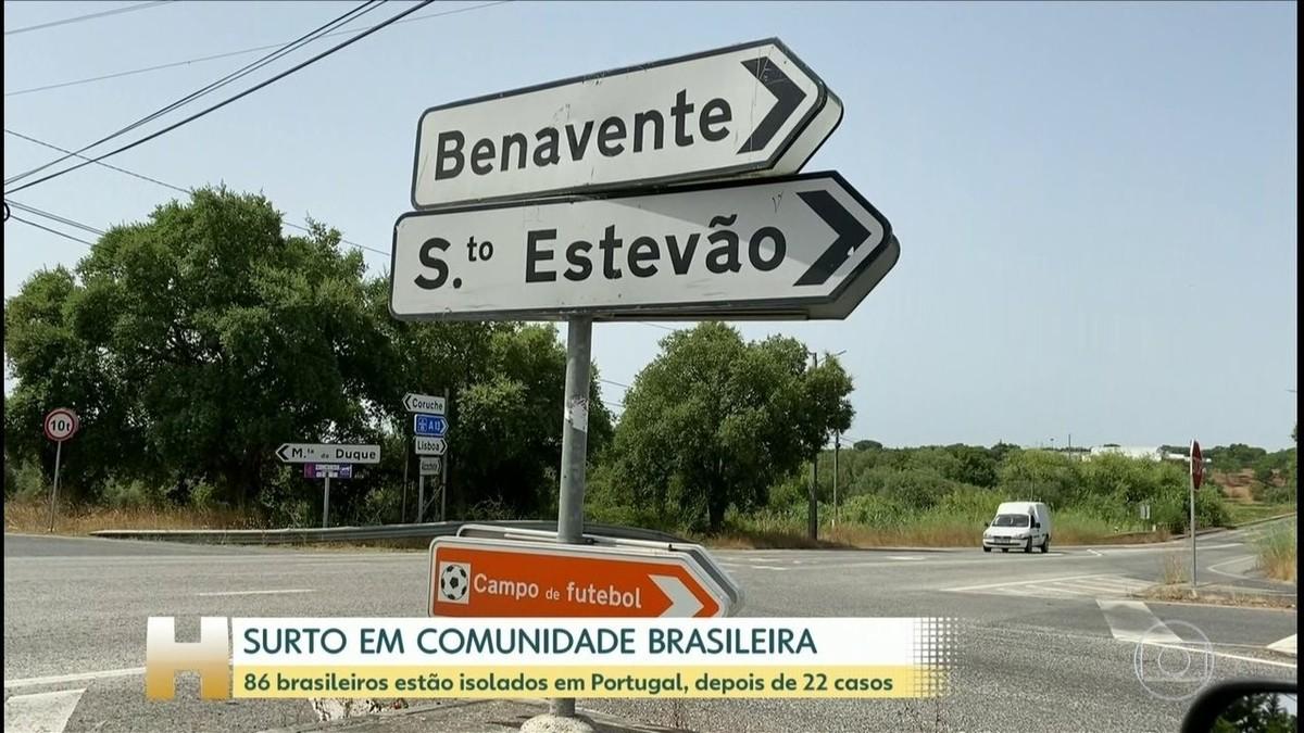 Comunidade brasileira tem surto de Covid-19 em aldeia de Portugal – G1
