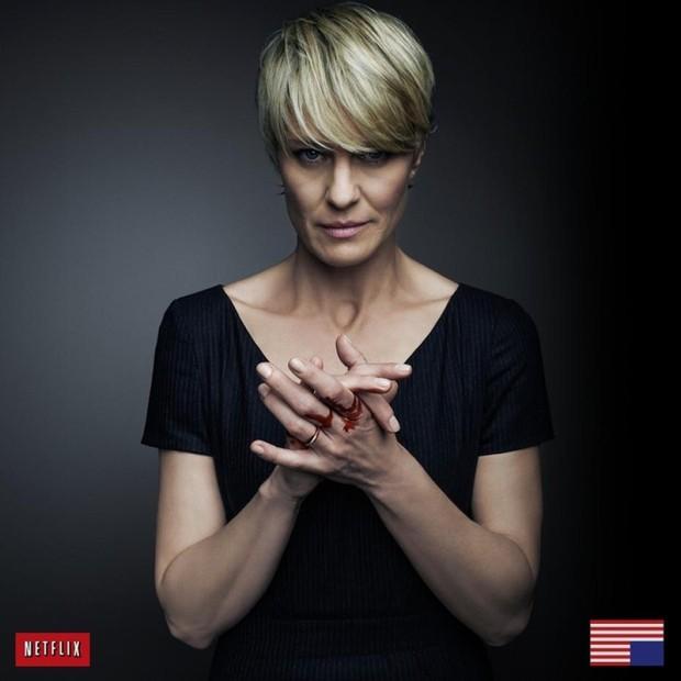 """Claire Underwood (Robin Wright) em foto de divulgação de """"House of Cards"""" (Foto: Reprodução)"""
