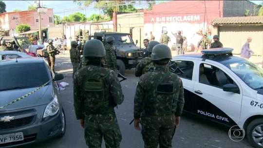 PM é morto ao tentar furar bloqueio do Exército em Belford Roxo, RJ