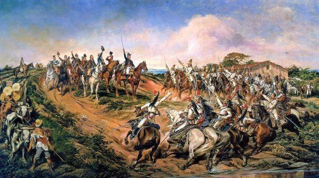 Independência ou Morte (O Grito do Ipiranga), óleo sobre tela de Pedro Américo, representando a proclamação da independência do Brasil por D. Pedro I, em 7 de setembro de 1822