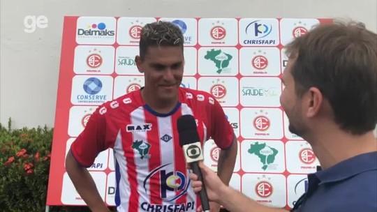 """Autor do gol da vitória do 4 de Julho, Josy valoriza início do Piauiense: """"Trabalhando forte"""""""
