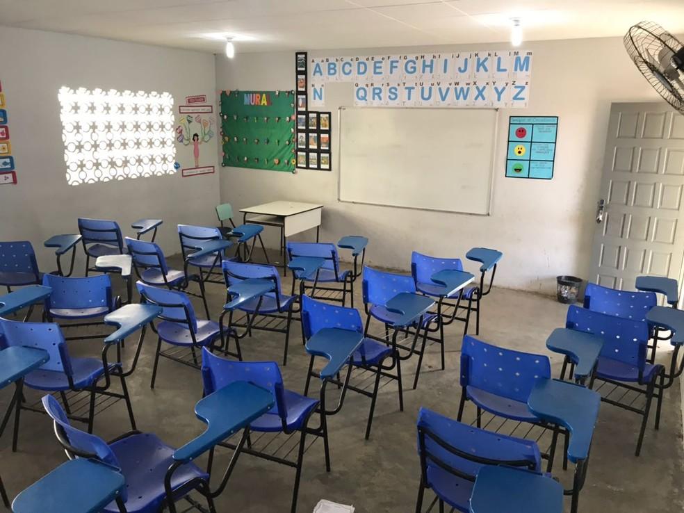 Aulas estão suspensas no RN desde o dia 18 de março.  — Foto: Kléber Teixeira/Inter TV Cabugi
