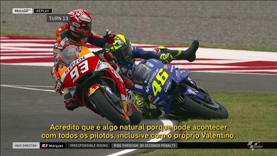 """No Brasil, Márquez minimiza críticas de Rossi: """"Todo piloto já teve 25 anos"""""""
