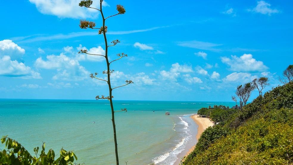 Ponto mais oriental das Américas fica em um pontal na Ponta do Seixas, e não na Barreira do Cabo Branco, em João Pessoa (Foto: Rafael Passos/Secom-JP)