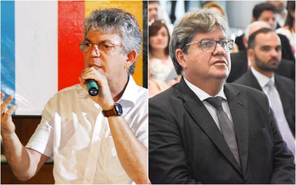 Ex-governador Ricardo Coutinho (PSB) e governador João Azevêdo (sem partido) são alvos da Operação Calvário — Foto: Junior Fernandes/Secom-PB - André Lúcio/Secom-PB