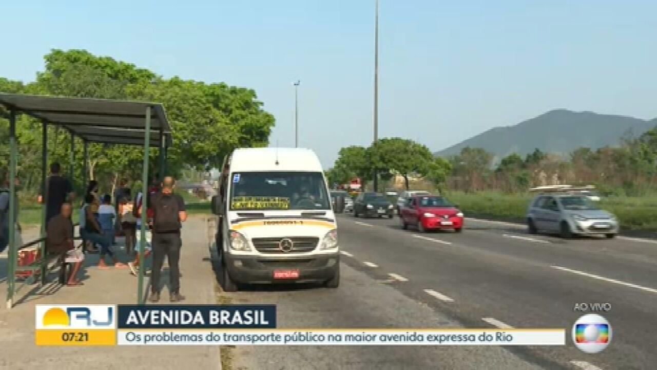 Série de reportagens mostra os problemas do transporte público na Avenida Brasil