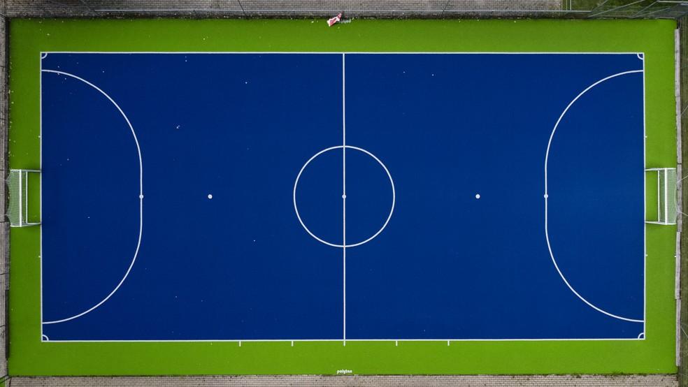 Quadra de futsal seguirá com as mesmas dimensões (20m x 40m) — Foto: Nicolò Campo/LightRocket