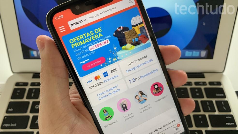Tiendamia: saiba como comprar nos Estados Unidos com aplicativo de importados — Foto: Helito Beggiora/TechTudo