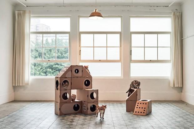 """Casa para gatos criada por um casal de arquitetos taiwaneses, que criaram a marca """"A Cat Thing"""" (Foto: Divulgação)"""