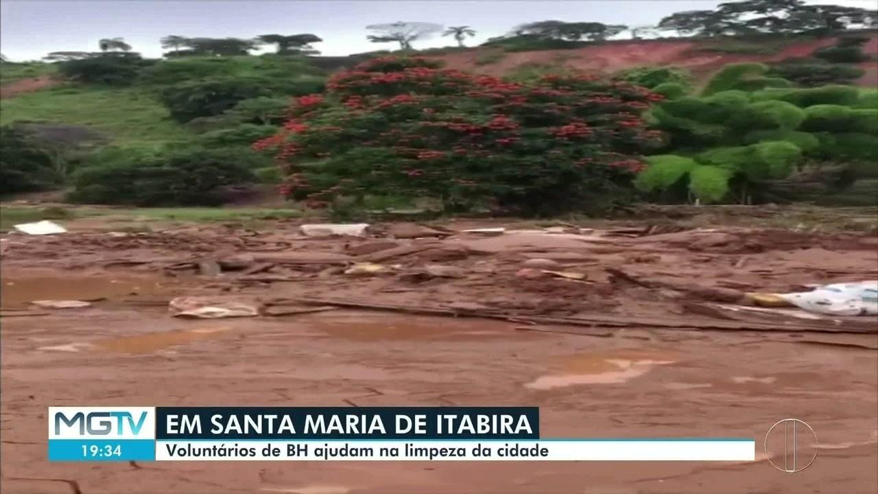 Grupo de voluntários ajuda moradores de Santa Maria de Itabira