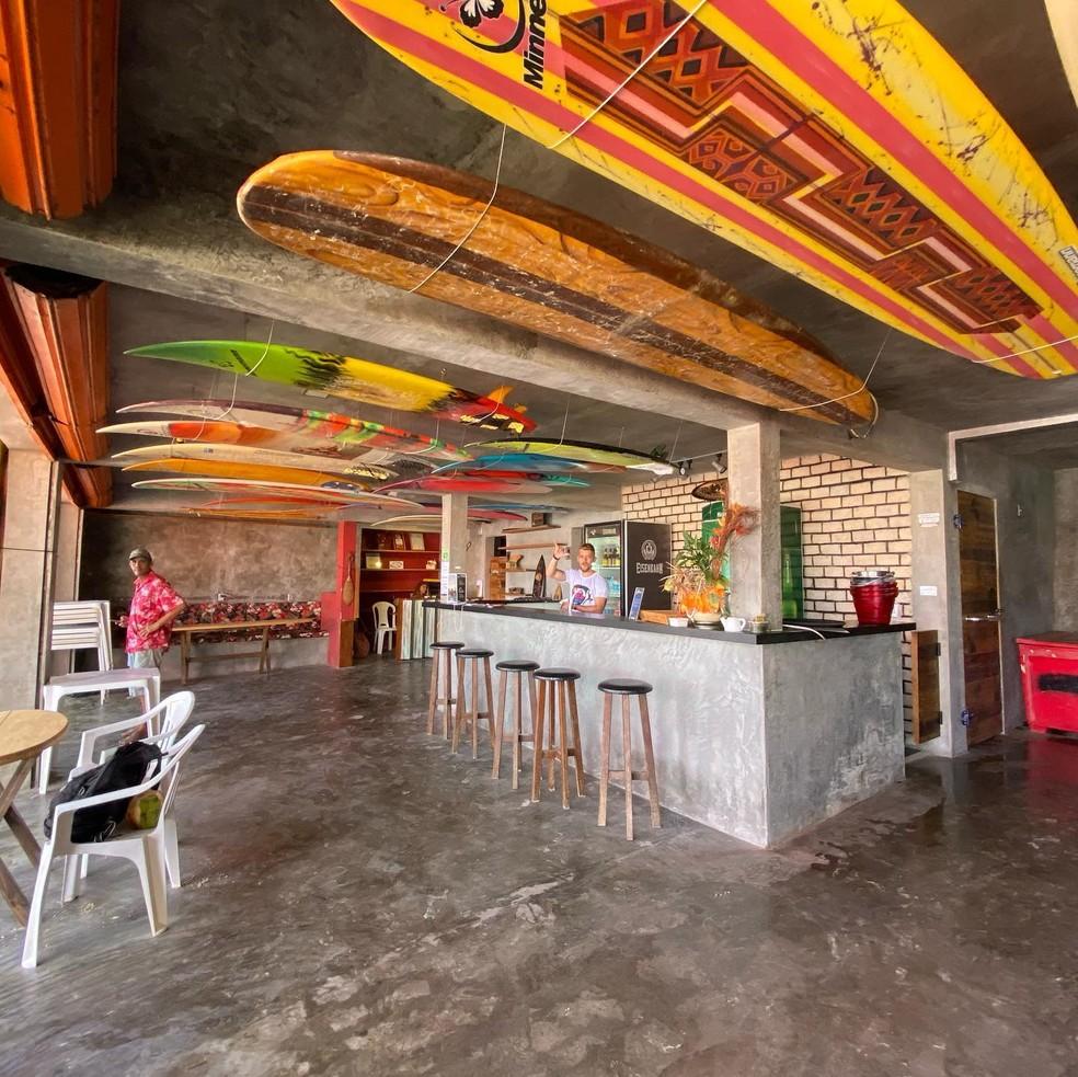 Bar fica às margens da praia de Ponta Negra — Foto: Reprodução