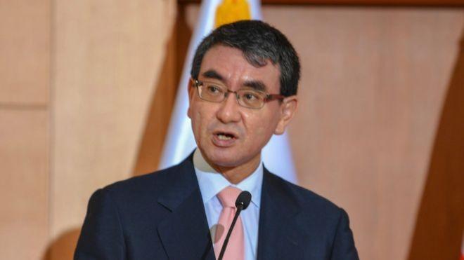 Taro Kono, chanceler japonês, quer que seu nome seja grafado Kono Taro por veículos estrangeiros (Foto: MALIEPA/WIKIMEDIA COMMONS)