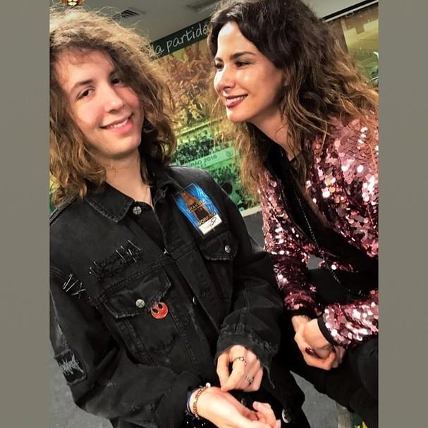 Lucas Jagger, agora com 19 anos, e Luciana (Foto: reprodução/Instagram)
