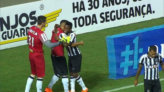 O gol de Atlético-MG 1 x 0 América-MG pela semifinal do Campeonato Mineiro