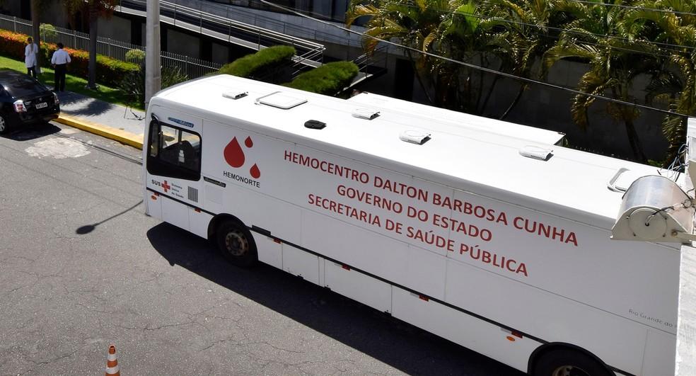 Unidade móvel do Hemonorte — Foto: Assembleia Legislativa do RN