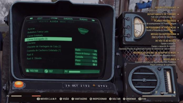 Sobrevivência e equipamentos são mais simples que em Fallout 4 (Foto: Reprodução/Murilo Tunholi)