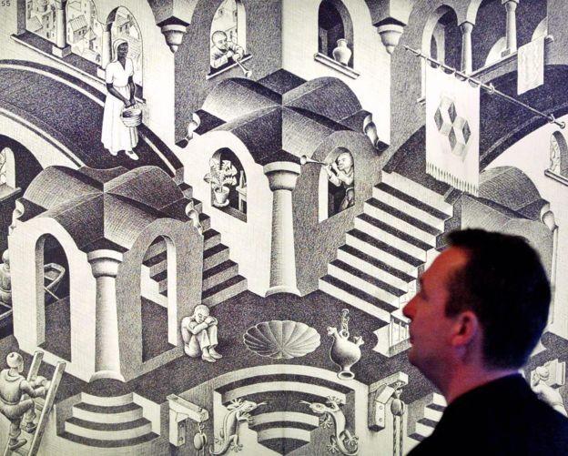 A fita de Möbius inspirou ao artista M.C. Escher (Foto: Getty Images via BBC News Brasil)