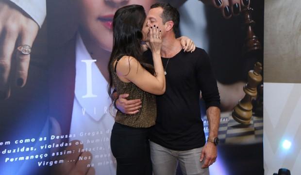 Kyra Gracie e Malvino Salvador (Foto: Daniel Pinheiro/AgNews)
