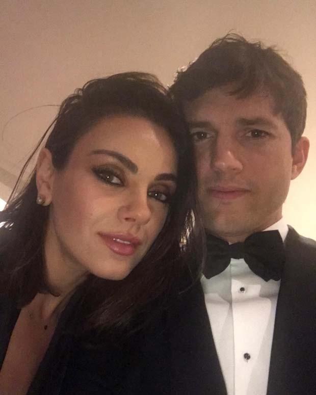Mila Kunis e Ashton Kutcher (Foto: Reprodução Instagram)