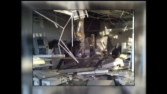 Polícia procura quadrilha que invadiu 4 agências bancárias de Orizona, GO